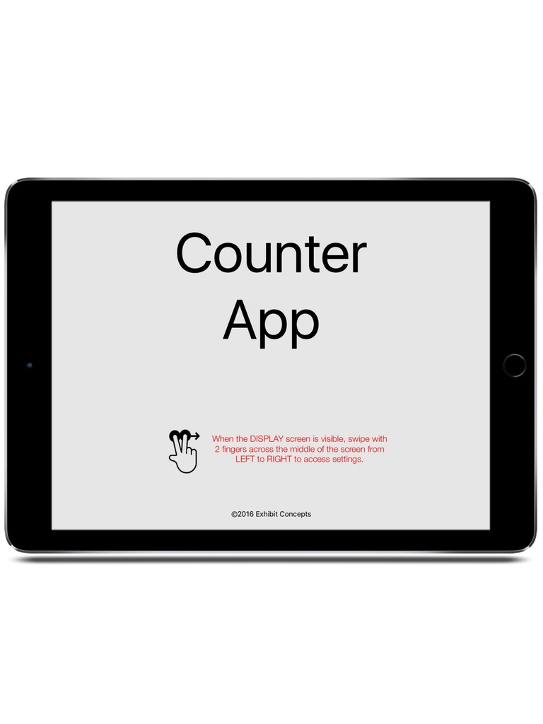 ExhibitCounter iPad  Screenshot 1
