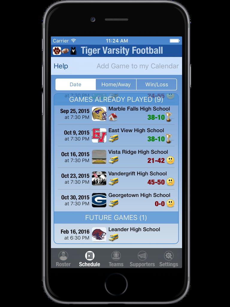 MyTeam Sports iPhone & iPad  Screenshot 4