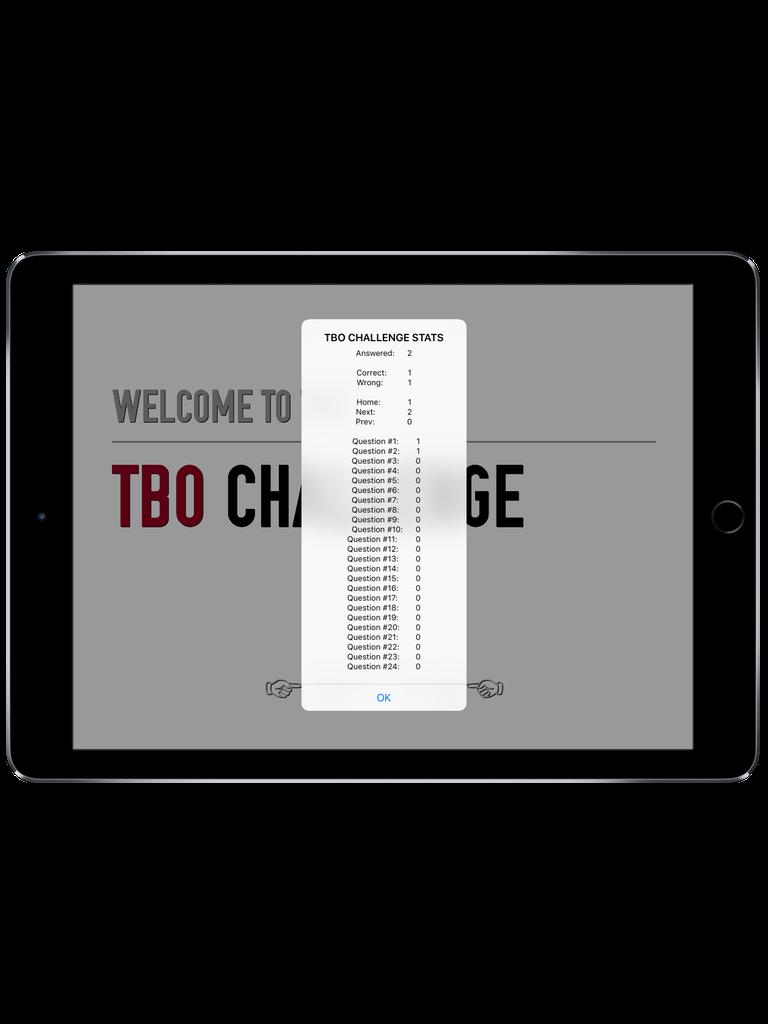 TBO Challenge Trivia App iPad  Screenshot 5