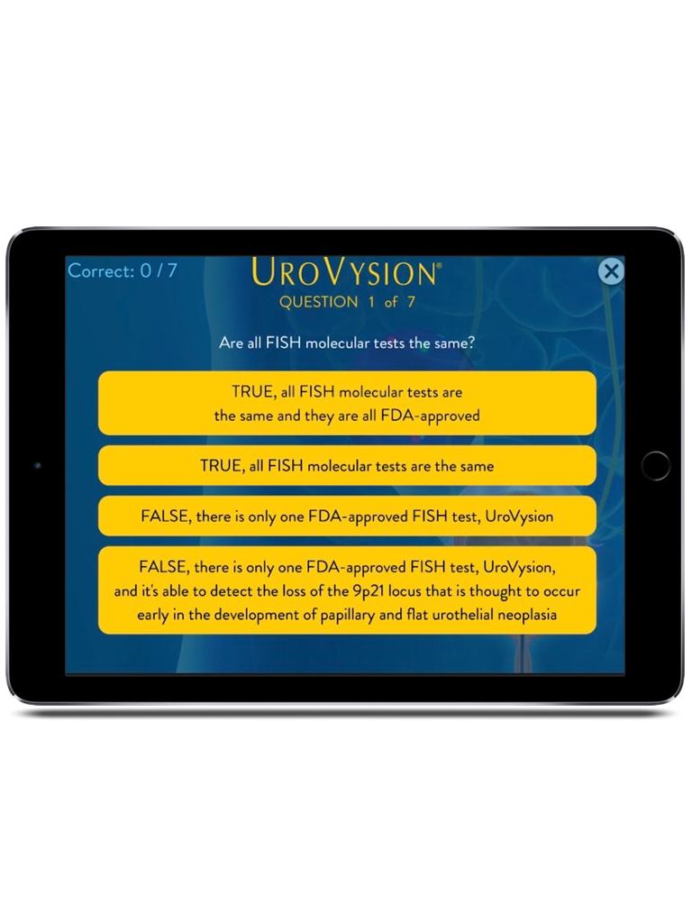 Abbott Labs UroVysion Convention App iPad  Screenshot 2